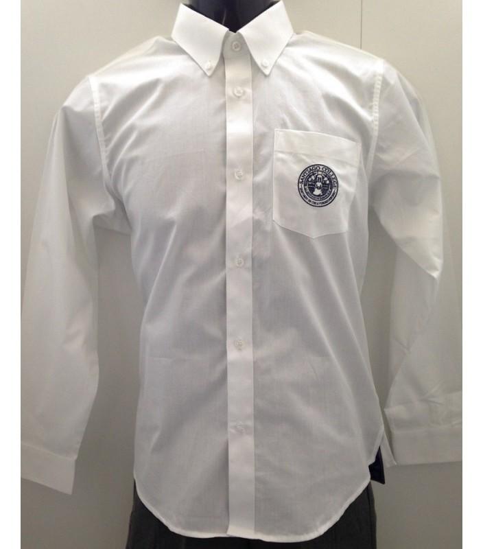 Camisa SC Blanca M/L Talla 12 a 16